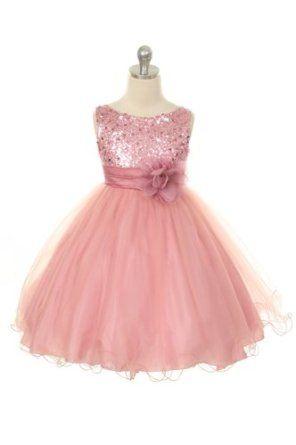 Dusty rose flower girl dress pink flower girl dresses flower girl dusty rose flower girl dress mightylinksfo
