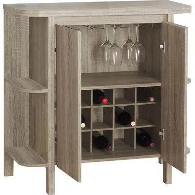 Zipcode Design Keshia Guffey Bar With Wine Storage Finish