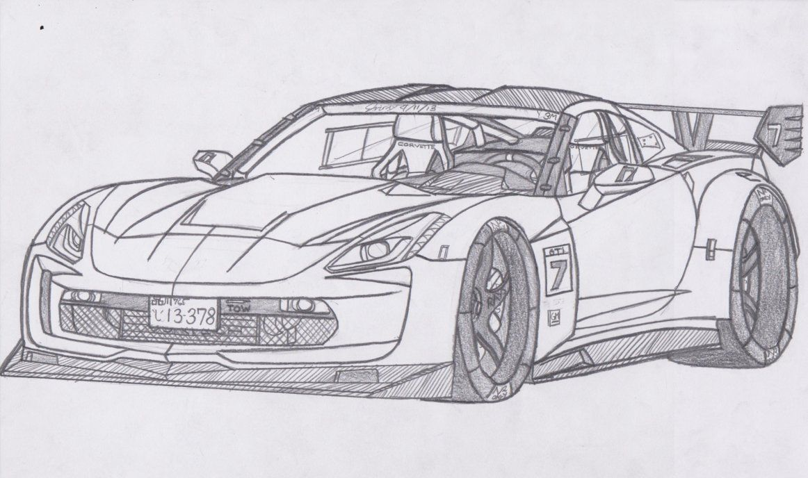 Corvette Drawings Chevrolet Corvette Stingray Zr C Z Jmig