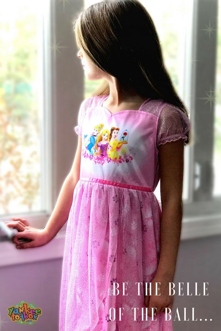 Feel and look like Disney royalty wearing these darling Disney Princess  fantasy gowns! Each nightgown features graphics of your favorite princesses   ... 9aacdcd3b