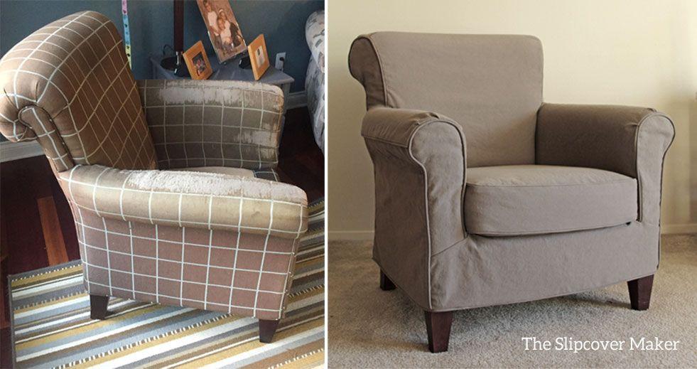 Komfortabler Sessel Hussen Sofa Bezug Stoff Canvas Couch Abdeckungen