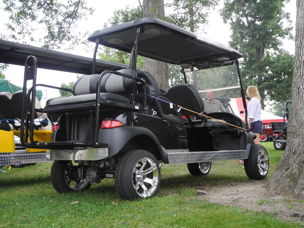 This Custom Electric 6 Passenger Club Car Precedent Stretch Limo Is