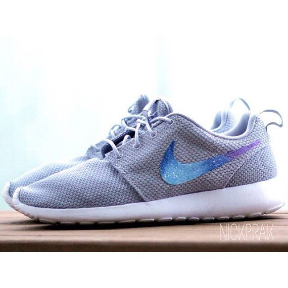 Gray Galaxy Custom Nike Roshe Run van PrakCustoms op Etsy
