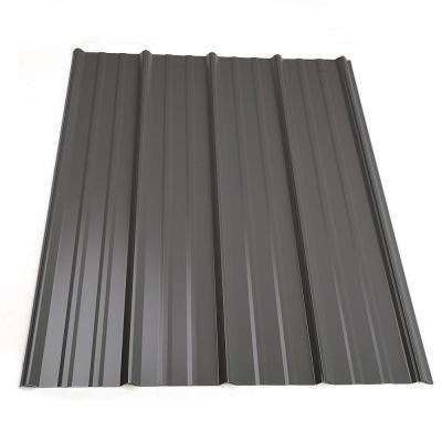 16 Ft Classic Rib Steel Roof Panel In Charcoal Roof Panels Steel Roof Panels Metal Roof Panels