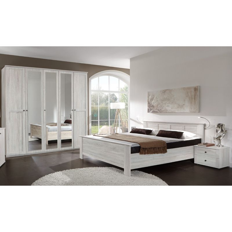 Schlafzimmer Set CHALETO166 Weißeiche Jetzt bestellen unter   - schlafzimmer set 180x200