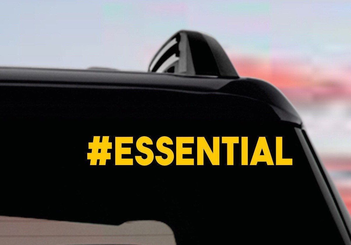 Essential Bumper Sticker Essential Car Truck Vinyl Decal Etsy Bumper Stickers Vinyl Decals Cars Trucks [ 840 x 1203 Pixel ]