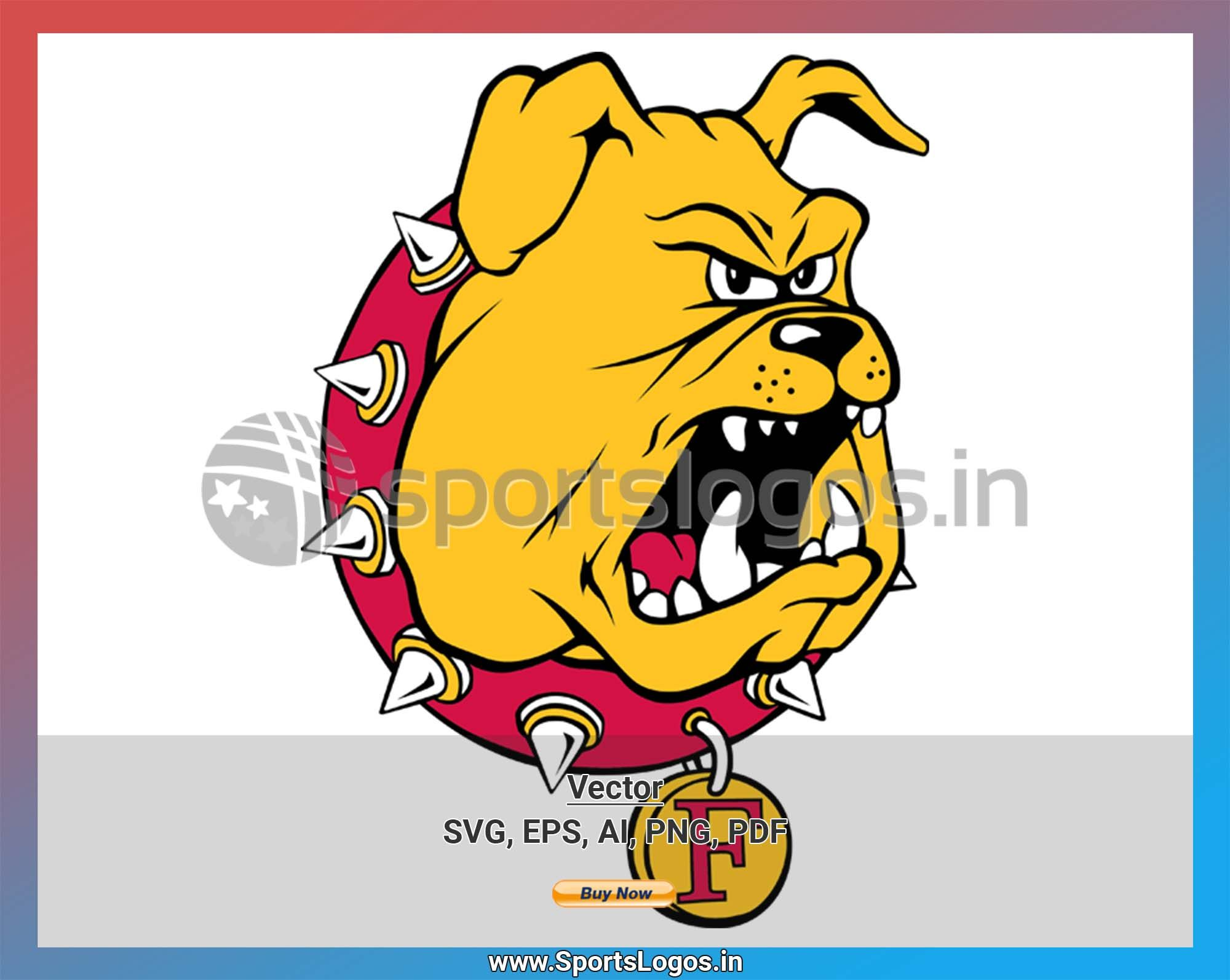 Ferris State Bulldogs College Sports Vector SVG Logo in