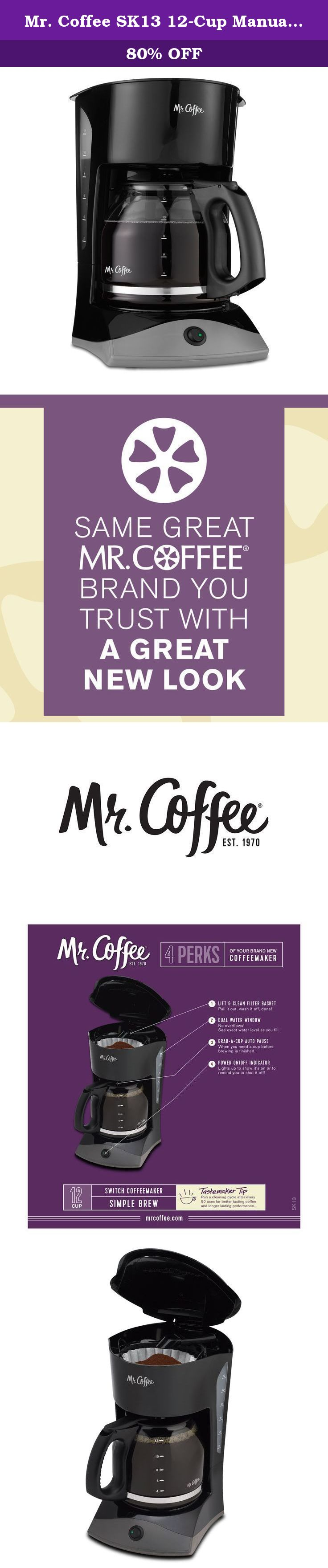 Mr. Coffee SK13 12Cup Manual Coffeemaker, Black. This