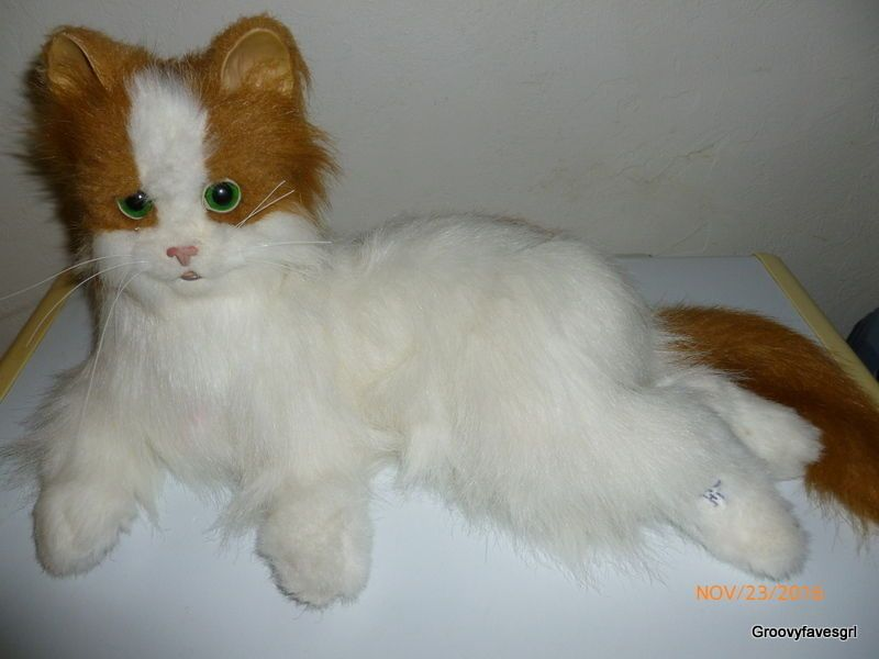 Hasbro Furreal Friends Lulu Kitty My Cuddlin Cat Orange White 21 Animal Fur Real Friends Cat Love Plush Stuffed Animals