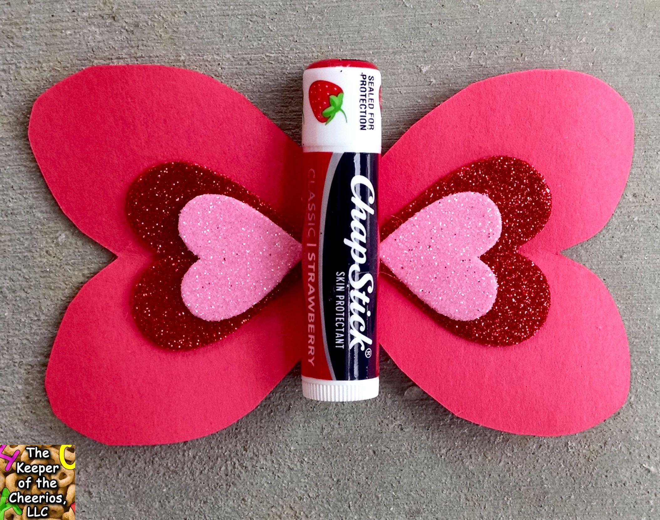 Butterfly Chapstick Valentine