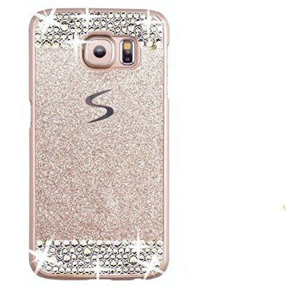 5f99a6e6435 Galaxy S7 Edge Case,Inspirationc® eauty Luxury Diamond Hybrid Glitter Bling  Hard Shiny Sparkling with Crystal Rhinestone Cover Case for Samsung Galaxy  S7 ...