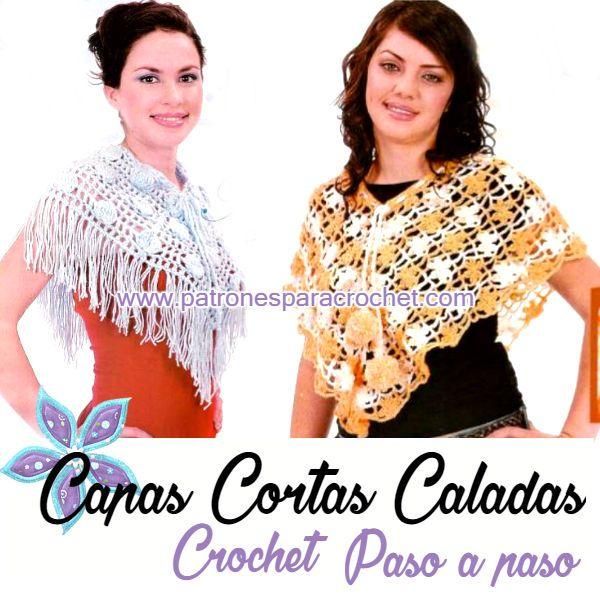 Capas Primaverales Caladas Crochet / Paso a paso | Capilla, Patrones ...