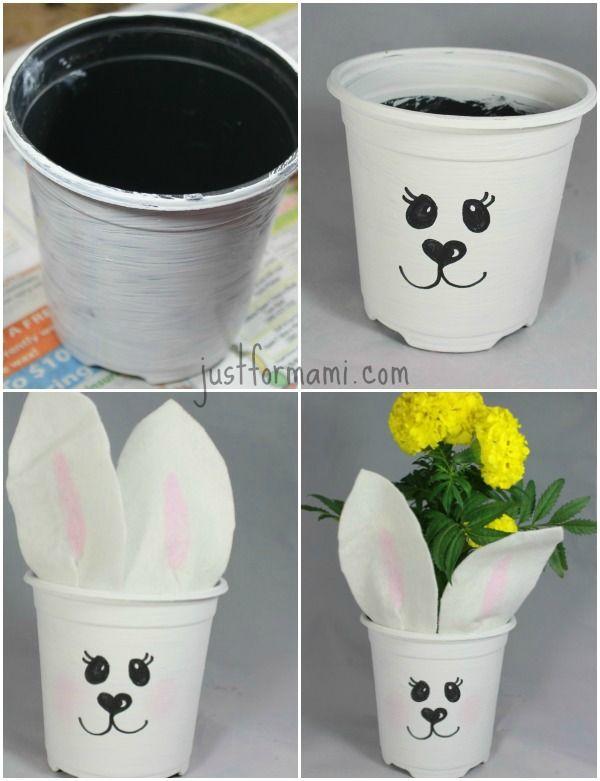 Macetas decoradas para regalar una flor o una plantita - Decoracion con macetas ...