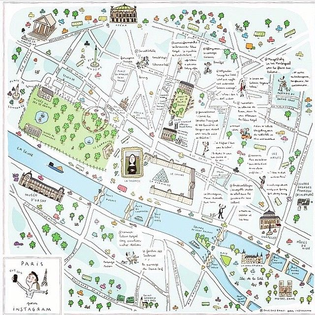Map of Paris by Soledad Bravi Maps Pinterest Illustrated maps