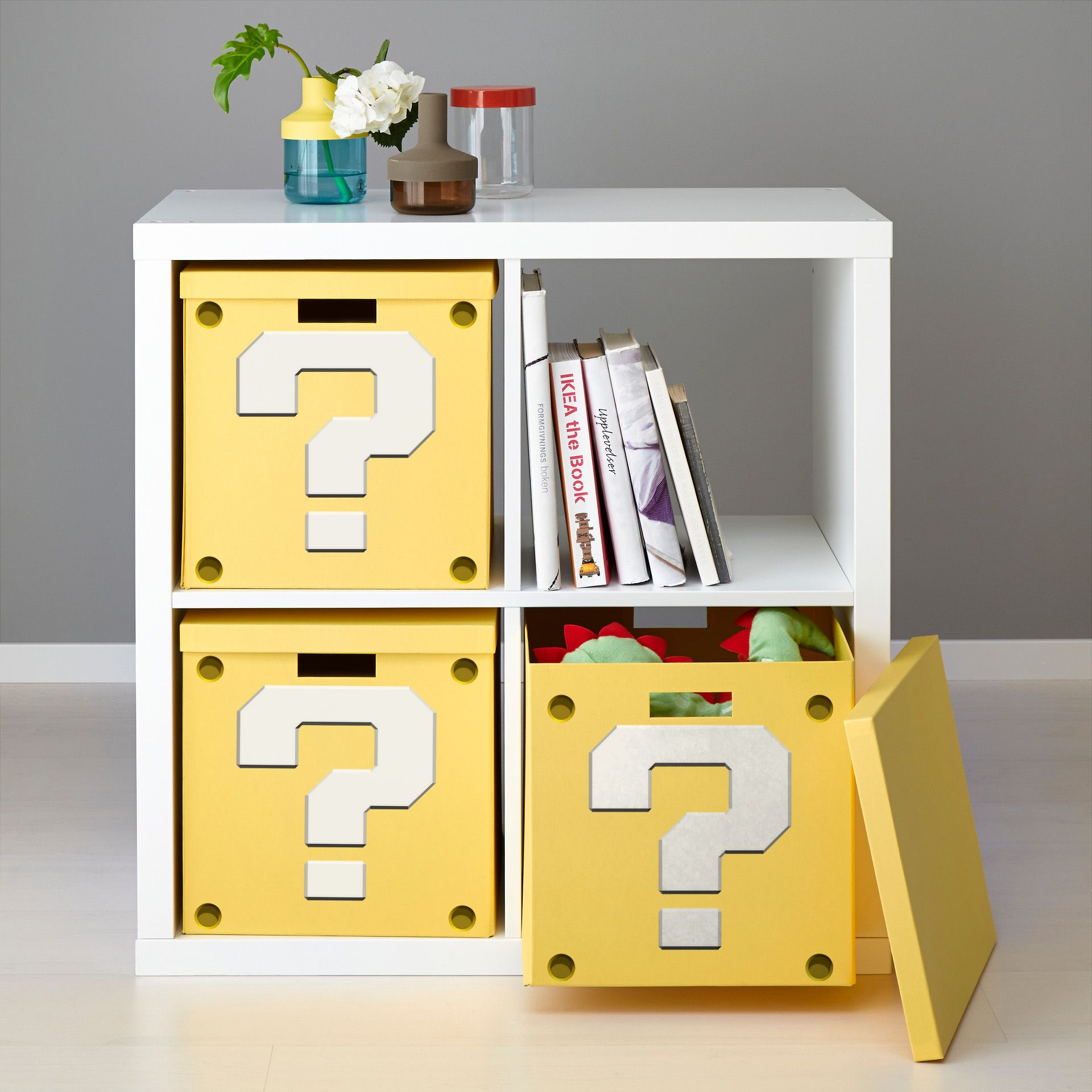 How To Make A Super Mario Question Block Shelf From Ikea Furniture  # Muebles Jugueteros Ikea