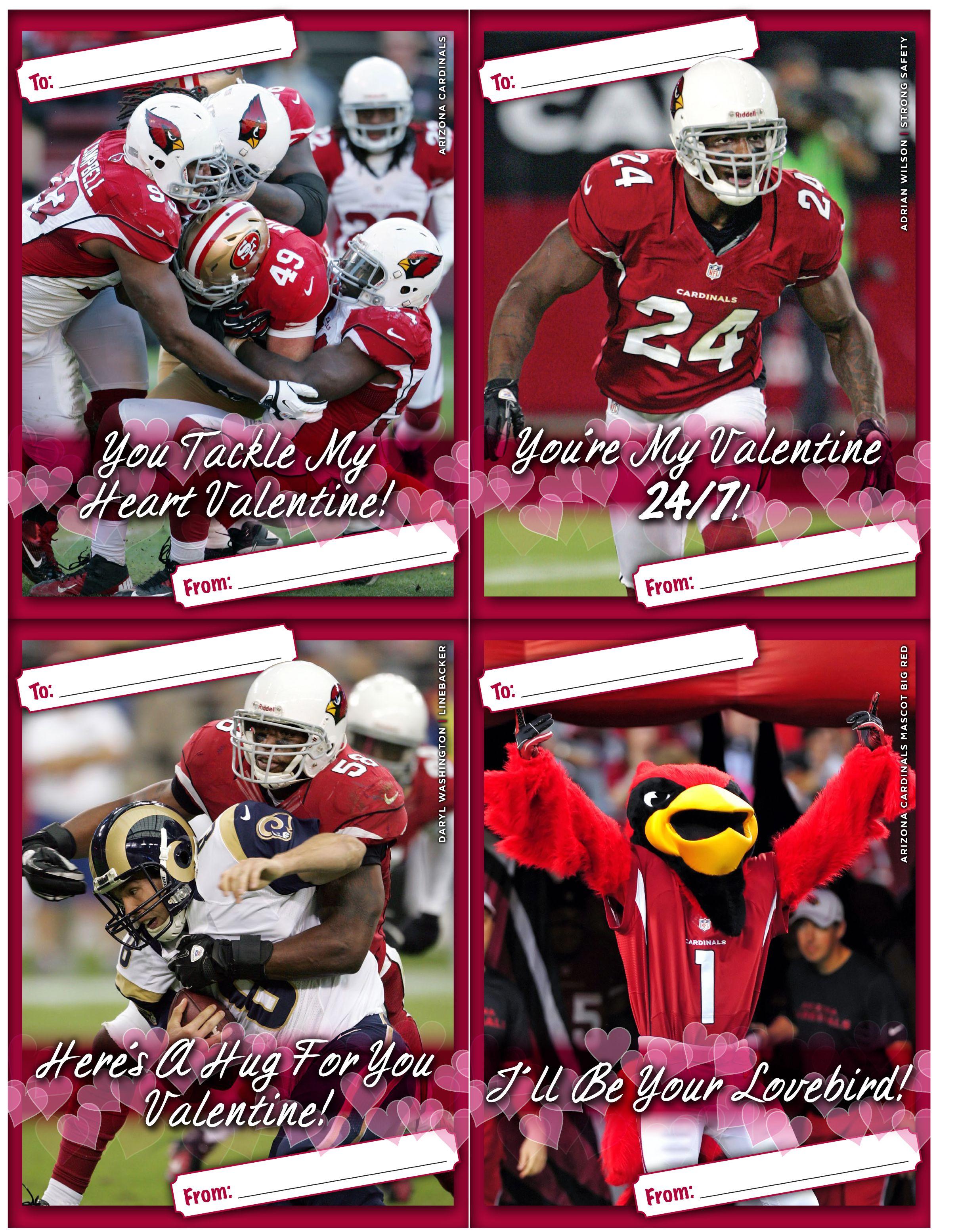 Valentines Day Cards I Arizona Cardinals 2013 Valentines Day Cards – Football Valentines Day Cards