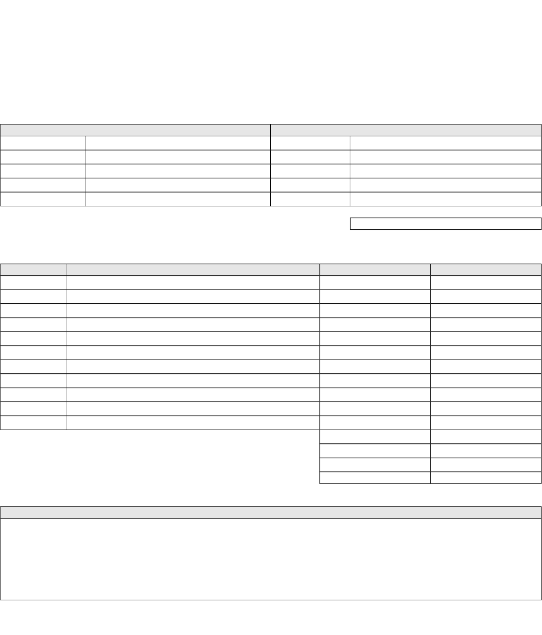 Blank Invoice Template   Invoices