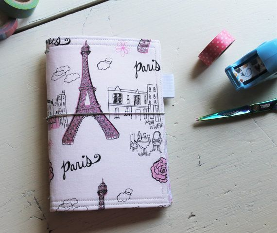 This listing is for one A6 - Field Note sized Eiffel Tower Catdori - field note
