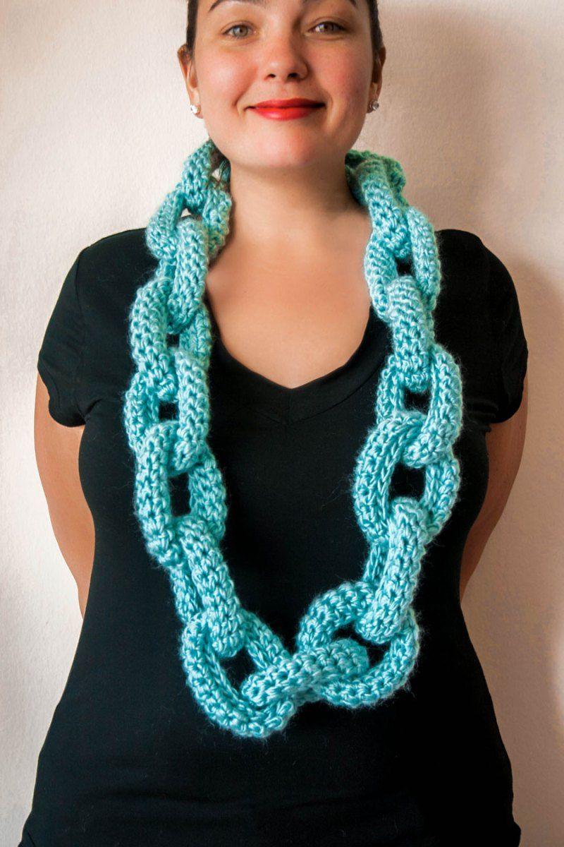 Crochet Chain Link Scarf Pattern | **Crochet** | Pinterest | Crochet ...