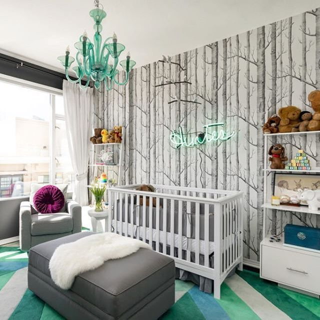 Ok How Fun Is This Modern Take On A Forest Themed Nursery Loving