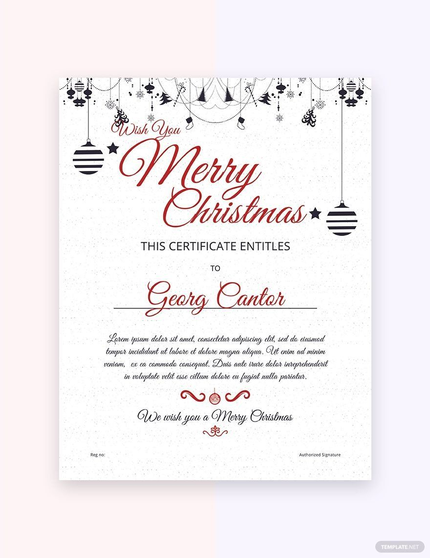 Christmas Gift Certificate Template Free Free Sample Merry Christmas Gift Cer Christmas Gift Certificate Template Christmas Gift Card Gift Certificate Template