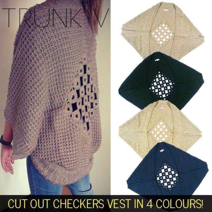 Cut out checkers vest! Shop at www.trunkv.com!