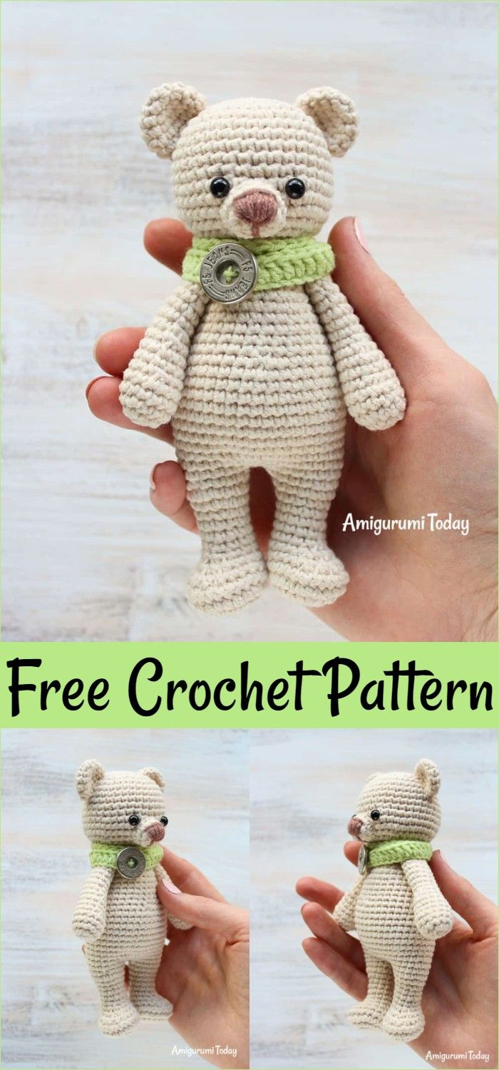 Free Crochet Bear Patterns – Amigurumi Patterns #crochetteddybearpattern