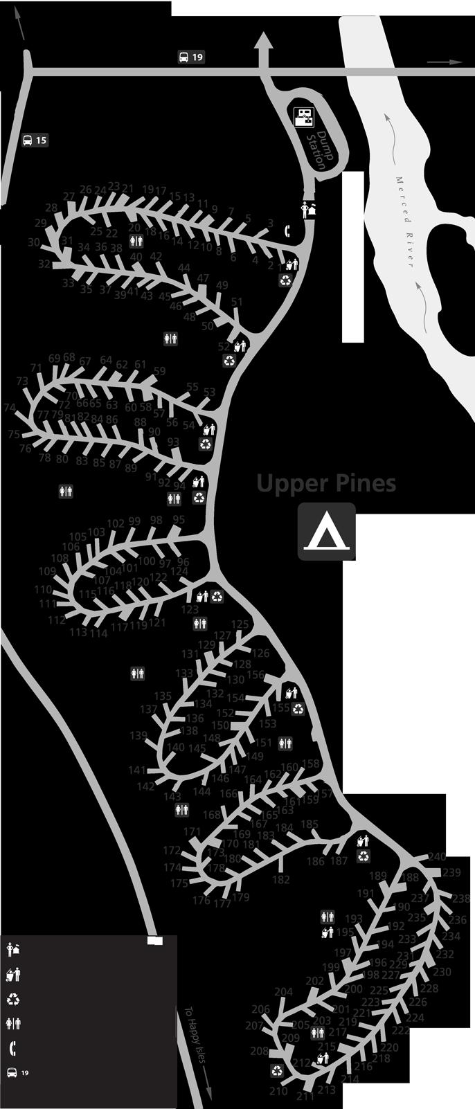 Upper Pines Campground In Yosemite Yosemite Camping