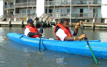 Kayaking means fun for persons of all ages and abilities.  Make a decision and do it!  That's the spirit at www.twostepsolutions.com