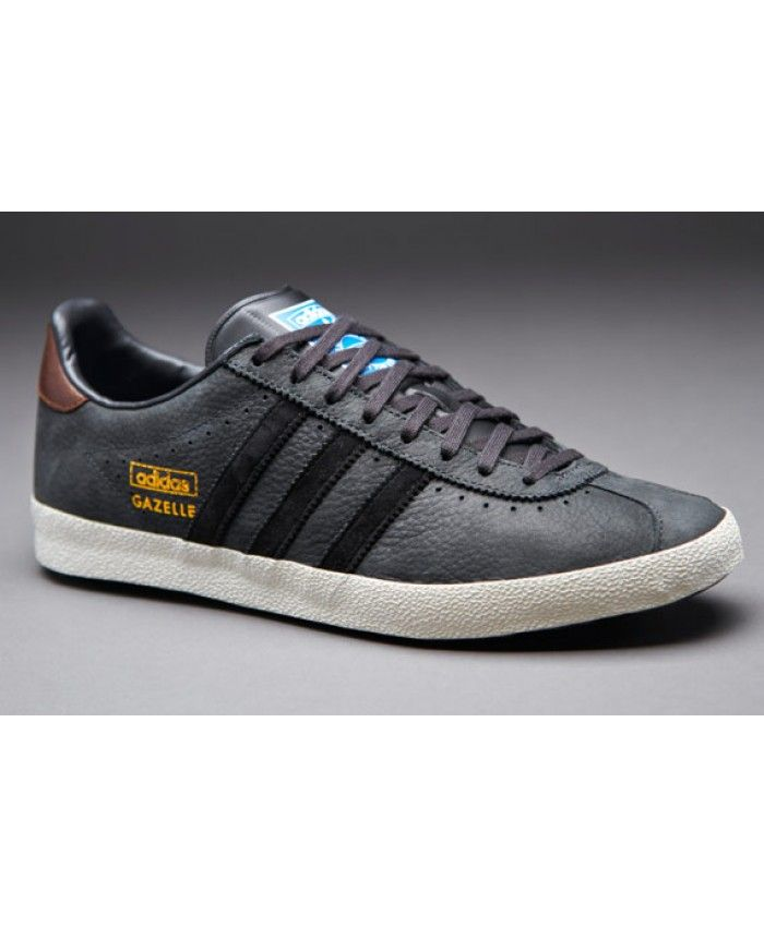 Adidas Gazelle OG Leather Dark Grey Blue White Trainer  defc2249a