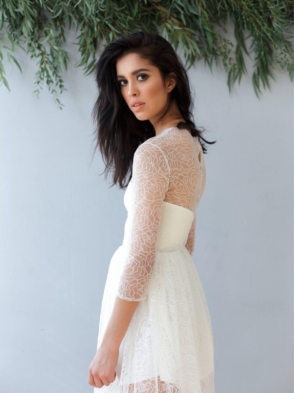 Sheer Lace Long Sleeve Wedding Dress | Wedding Dresses From Aisle ...