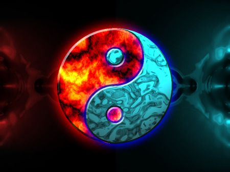Fire And Ice Art Fire And Ice Ying Yang By Absol290 Yin Yang