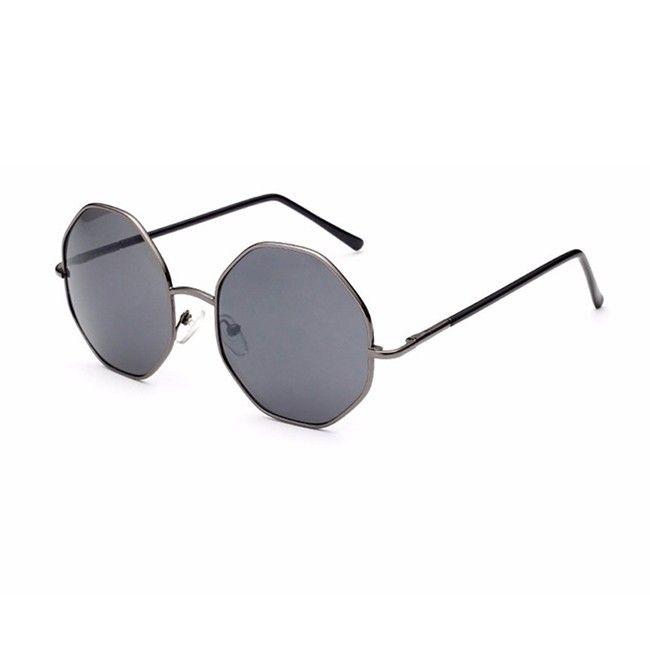 7aced2da9718 Grey Square Octagon Vintage Sunglasses Women Men 2016 UV400 Unique Sun  Glasses Oculos Brand
