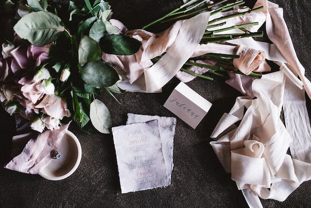 Long stem rose bridal bouquet | Captured By Keryn | see more on: http://burnettsboards.com/2016/02/dramatic-romantic-ocean-cave-ballet/