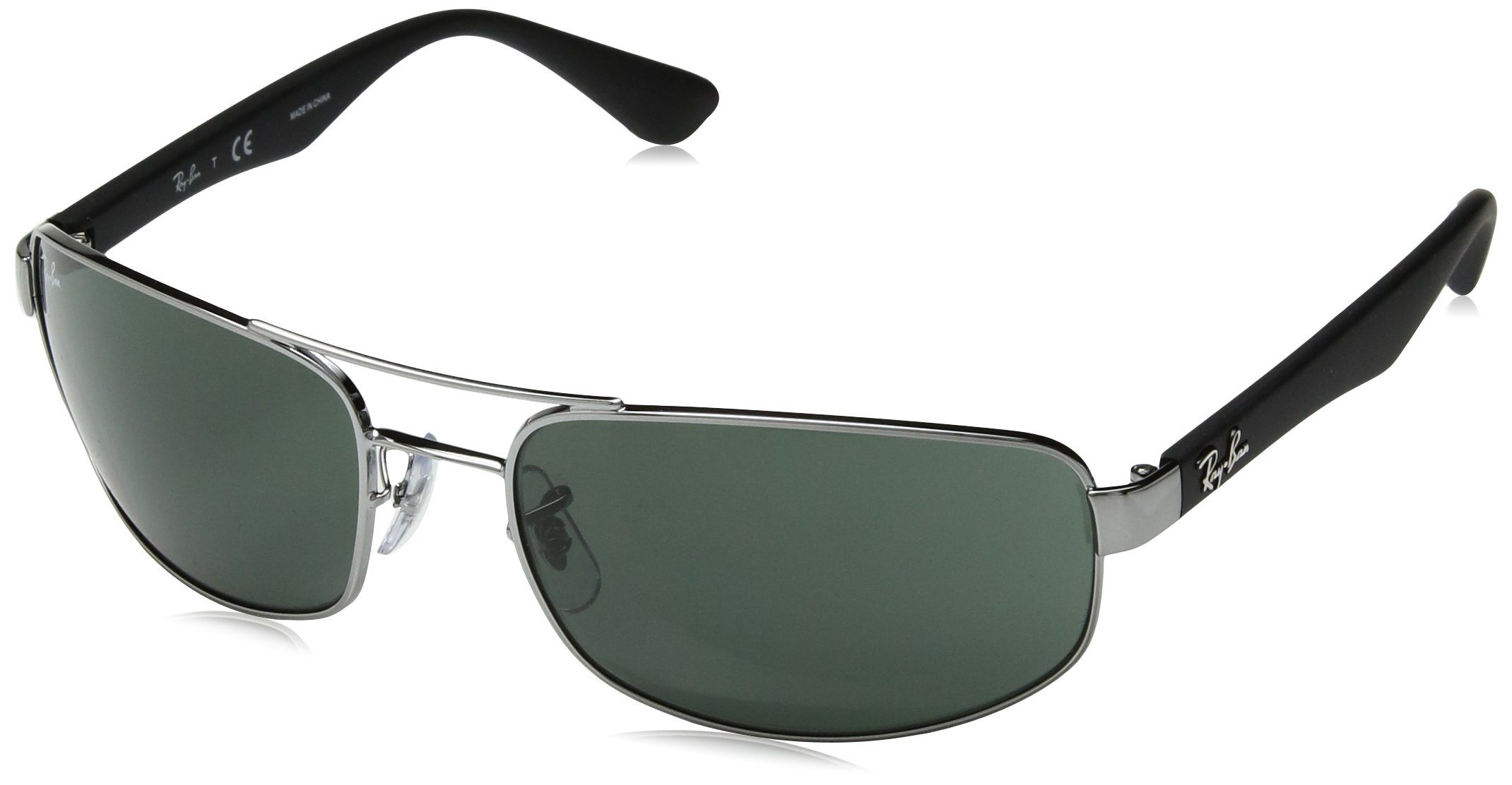 ba3706fc40a4d RayBan RB3445 GUNMETAL Frame CRYSTAL GREEN Lenses 61mm NonPolarized     You  can get more