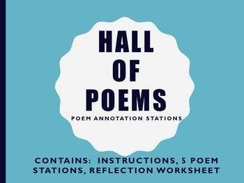 Harlem Renaissance Hall Of Poems Poetry Literary Device Annotation Stations Literary Devices Poems Poetry