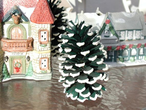 Small Tree Figures, Miniature Doll House or Town Displays Set of 3