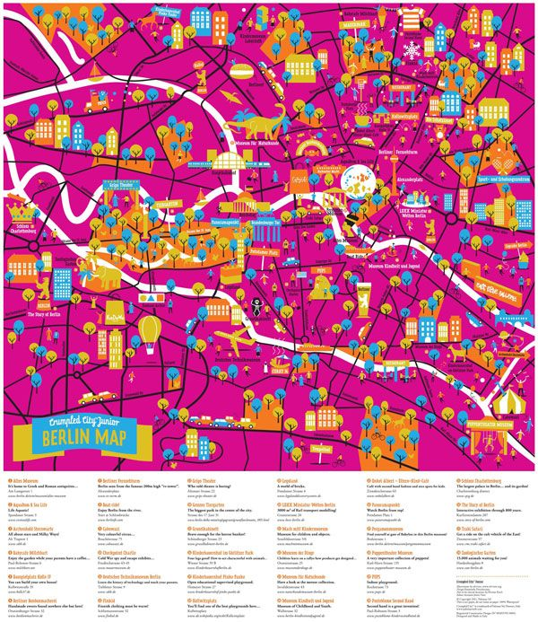 Crumpled City Junior Maps by Palomar (NOTCOT) | Graphic | City maps ...