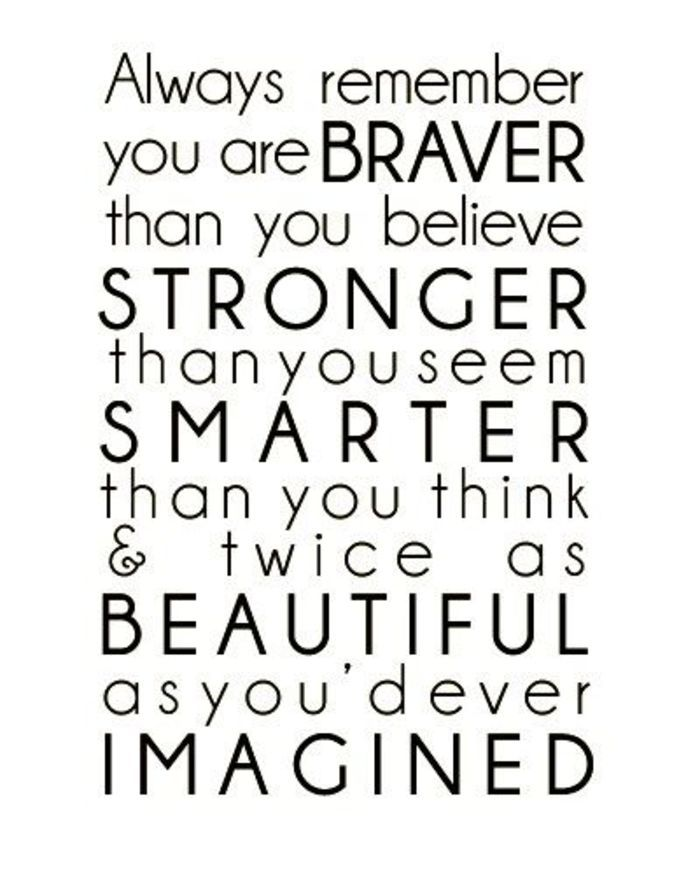 Inspiring Stories You Are Stronger Than You Think Cute Quotes