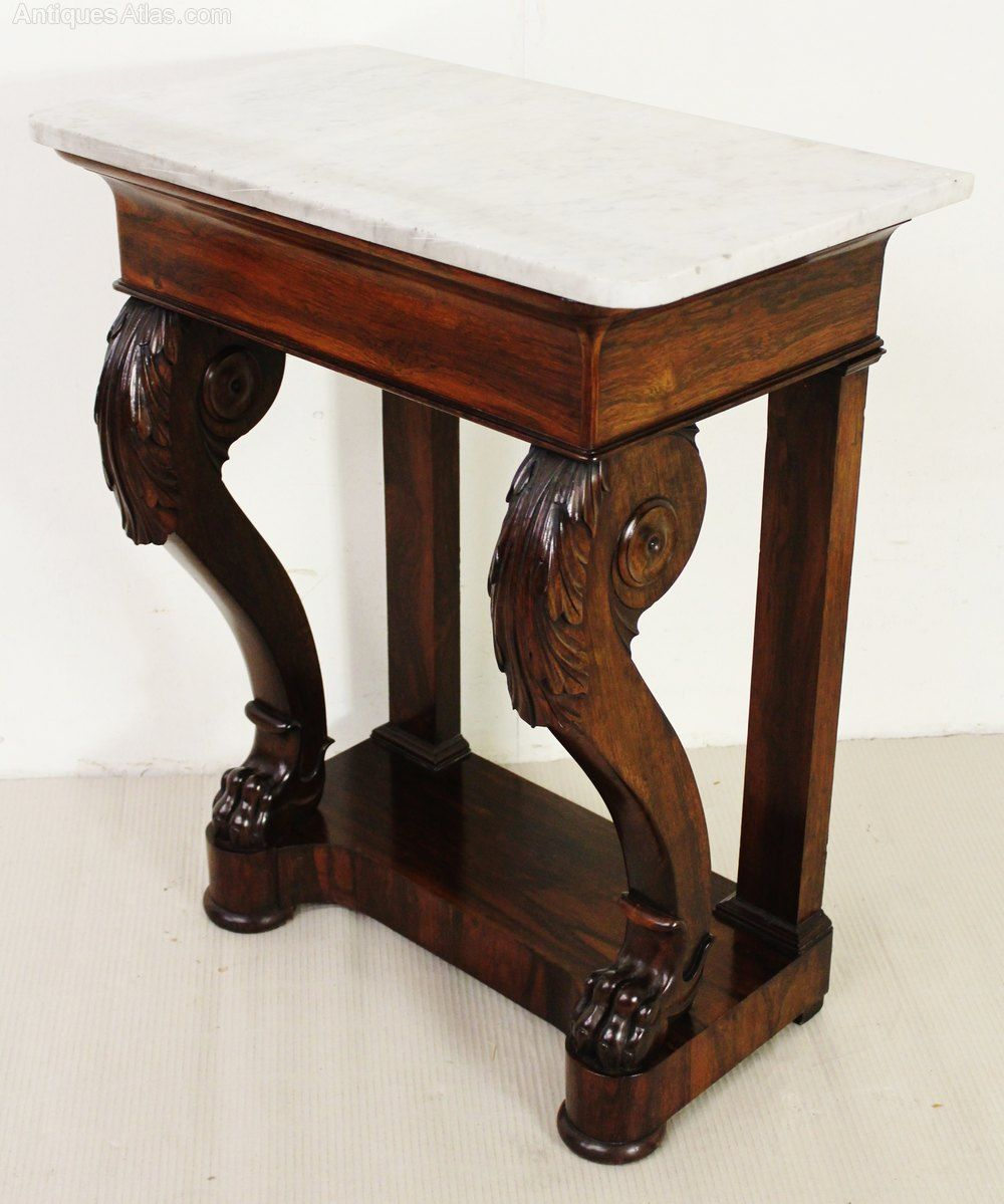 Marble Topped Rosewood Console Table Antiques Atlas Stoly V 2019