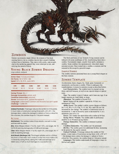 Zombie Dragon D&D, this monster can be found in the 3 5th