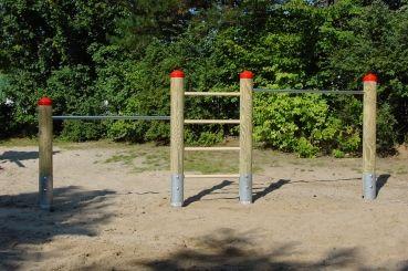 Klettergerüst Reck : Reck 2 fach stufenreck kletterstange mit sprossenleiter