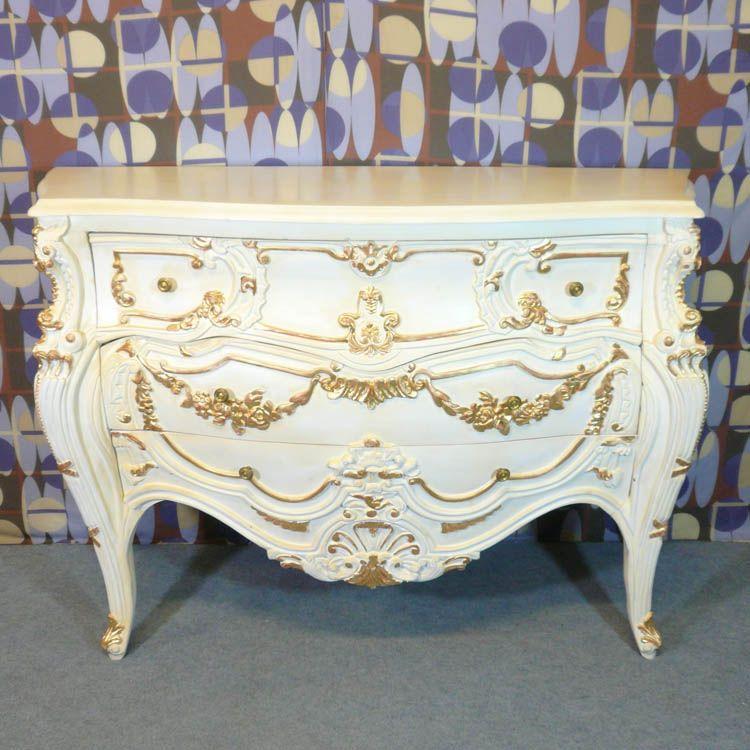 mode baroque de style Louis XV blanche DECO