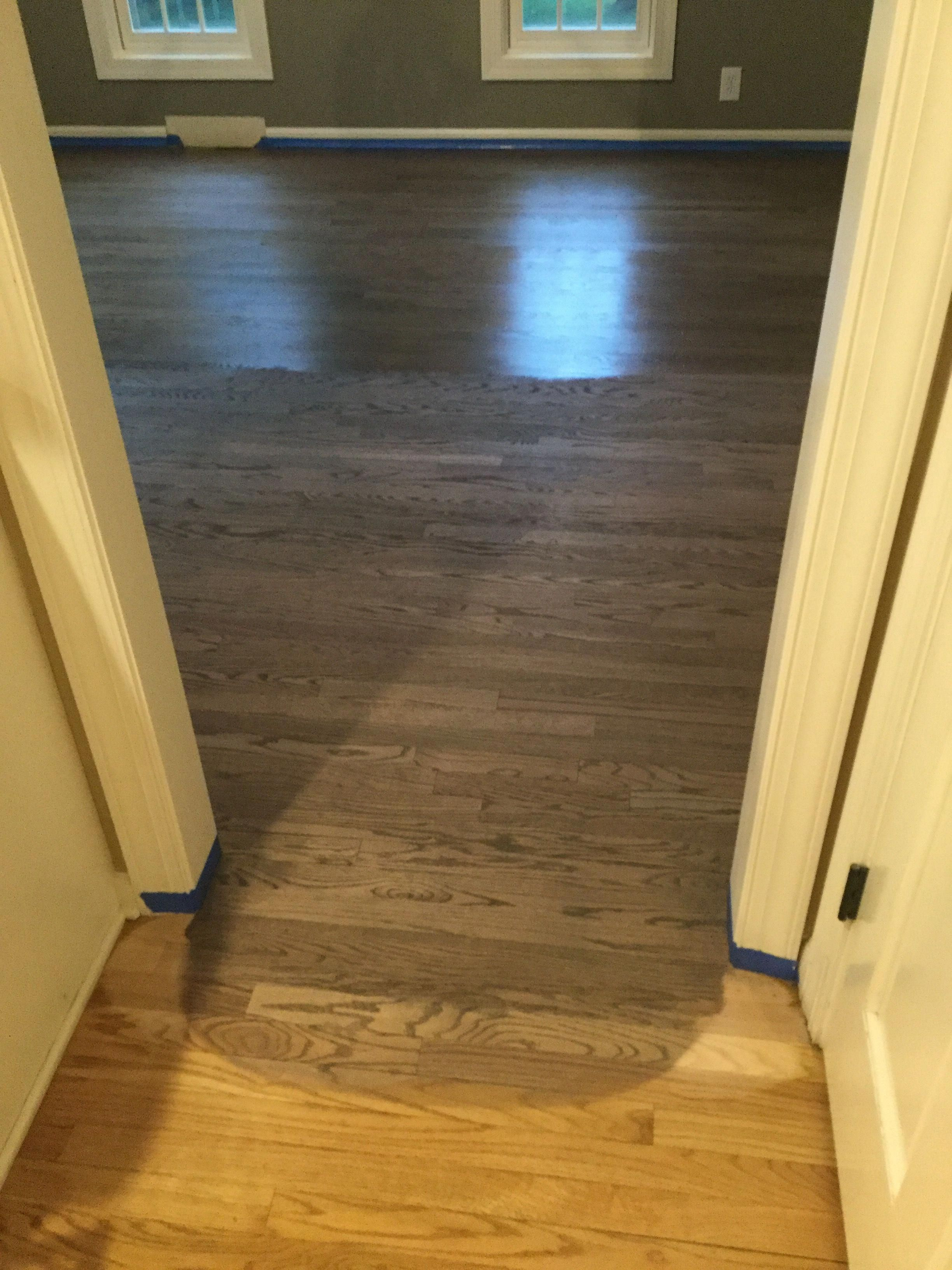 We Wanted A Medium True Brown Wth Grey Overtones Not Too Dark But Eliminating Yellows And Reds Hardwood Floor Colors Red Oak Floors Wood Floor Stain Colors
