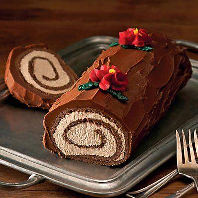 Bûche de Noël - Bake A Yule Log Cake For Christmas #desserts #holiday #recipes