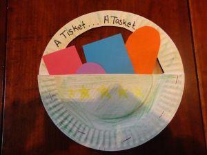 A Tisket, A Tasket Nursery Rhyme Craft
