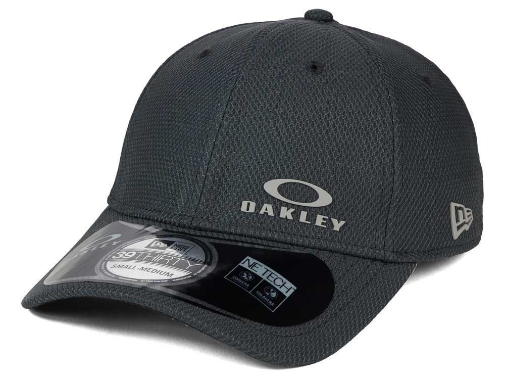 578e95e9a68 Oakley Men s New Era 39THIRTY Diamond Flex Fit Hat Cap - Graphite (M ...