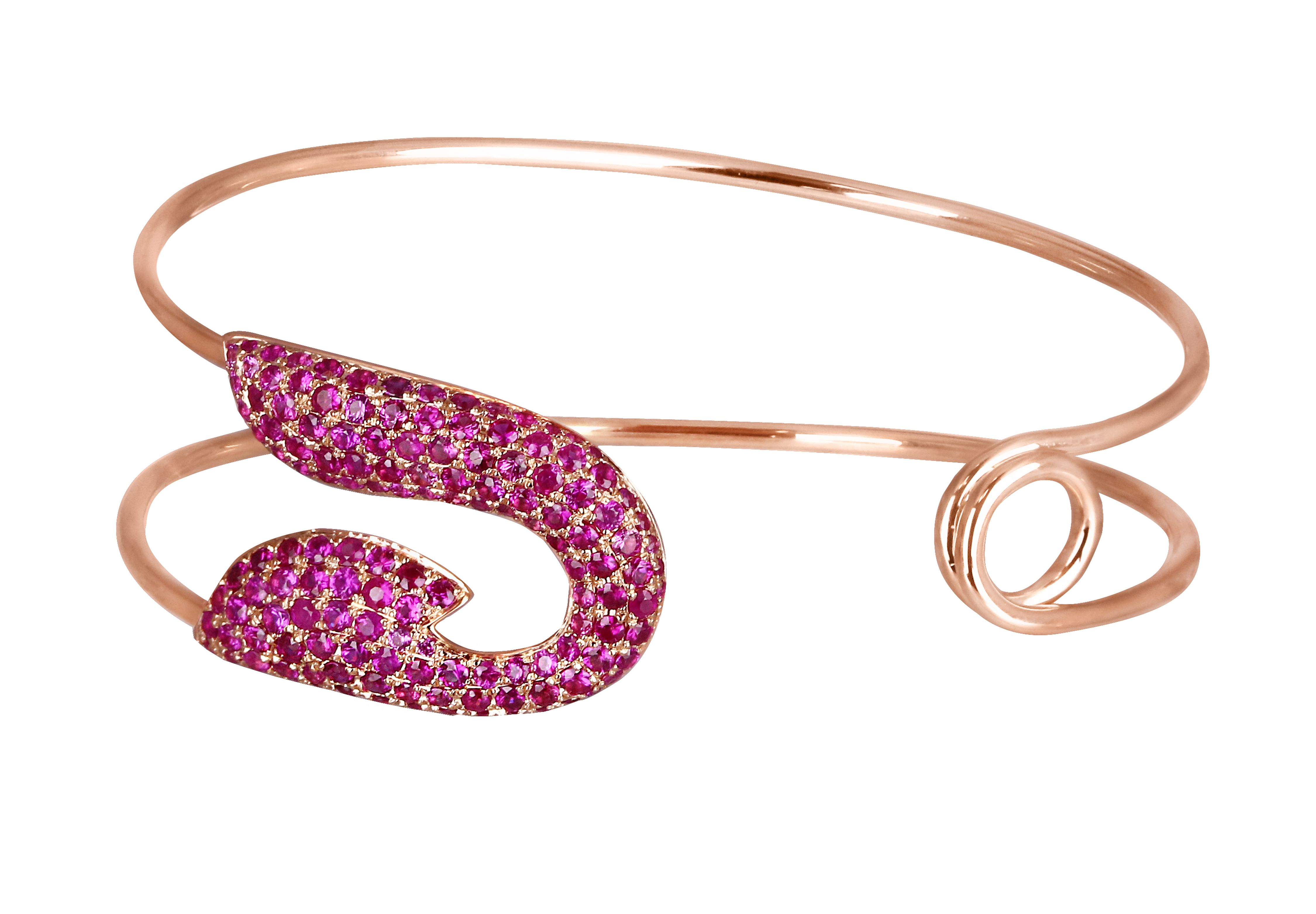 Jacob cos safety pin collection bracelet in rose gold