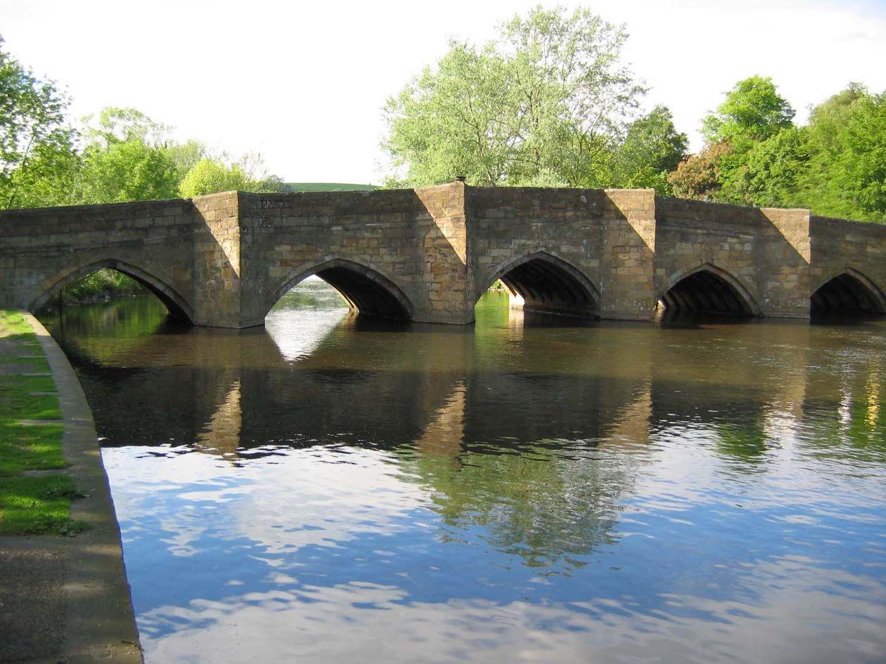 Pack horse bridge at Bakewell Derbyshire