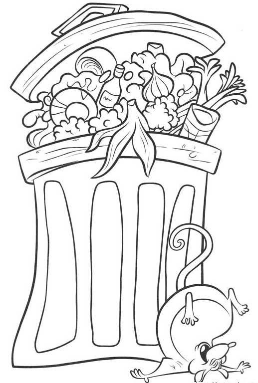 Tegninger til Farvelægning Ratatouille 11